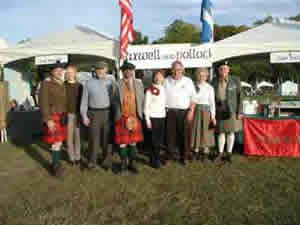Group photo in front of tent