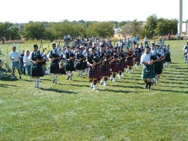 Three pipe bands!